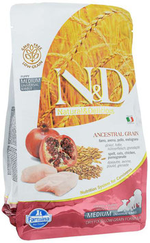 Farmina N&D Ancestral Grain PUPPY Huhn, Dinkel, Hafer & Granatapfel