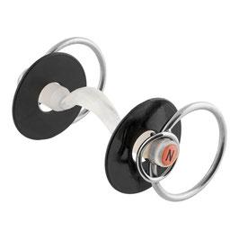 Nathe Stangengebiss 20 mm mit Zungenfreiheit und zusätzlichem kleinen Ring