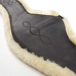 Kunstleder-Sattelgurt mit integriertem med. Lammfell -- OHNE ELAST