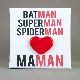 "5159 Tela cm 15x15 ""batman superman spiderman maman"""