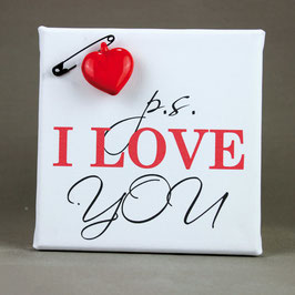 "5132 Tela cm 15x15 ""P.S. I Love You"""