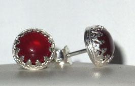 Karneol Ohrringe , Ohrstecker - Carnelian earrings, stud earrings