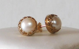 Zuchtperlen Ohrringe, Ohrstecker - Freshwater pearl earrings, stud earrings