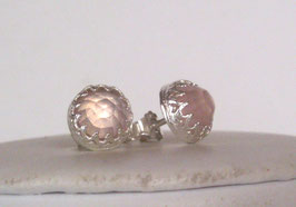 Rosenquarz Ohrstecker - Ohrringe - Rose Quartz earrings - Stud earrings
