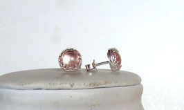 Moganit Ohrringe - Ohrstecker - Morganite earrings, stud earrings
