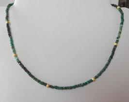 Schlichte Smaragd Kette - Emerald necklace