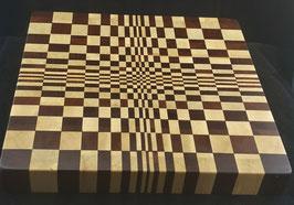 3-D Brett aus Hainbuche und Bubinga