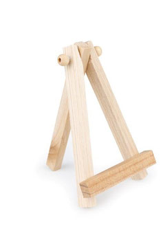 12 Pictureholder Staffelei Holz, natur