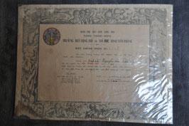 Biet Dong Doi -The Duc certificate. ARVN rangers graduate certificate. Dated '58.