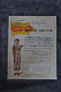 ARVN good conduct certificate. Dated '58.