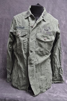 Shirt, man's cotton sateen 3rd pattern OG-107. Dated '72. 7th Corps.