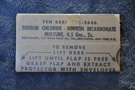 Sodium chloride. New old stock. Dated 4-'65.