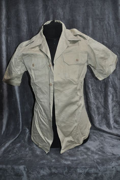 Khaki cotton short-sleeved shirt 2nd pattern.