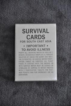Survival cards set. 1968.
