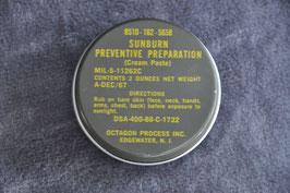 Sunburn preventive preparation. 1968.
