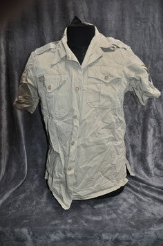 Khaki cotton short-sleeved shirt 1st pattern.