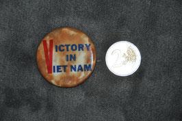 Vietnam war button. Victory in Vietnam.