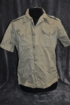 Khaki cotton short-sleeved shirt 1st pattern. '56.