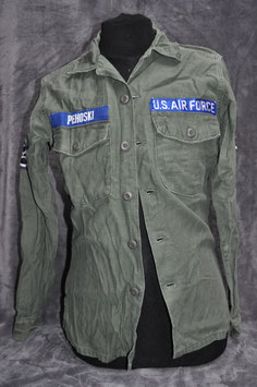 Shirt, man's cotton sateen 3rd pattern OG-107. Dated '70. USAF.