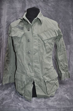 Coat, man's cotton w/r rip-stop poplin 3rd pattern OG-107. Dated '69. 1st logistical command.