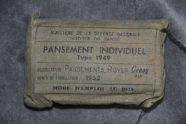 First aid dressing. Model 1949. Dated '52.
