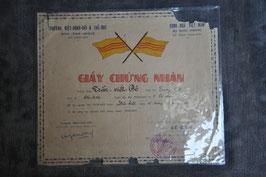 ARVN Ranger/ SOG graduate certficate. Dated '56.