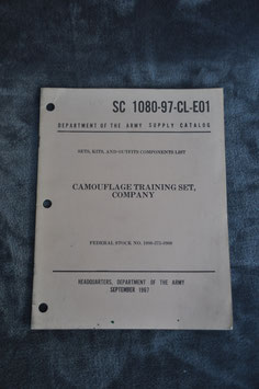 Supply Catalog SC 1080-97-CL-E01. Camouflage training set, company. '67.