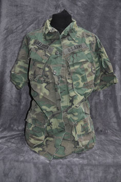 Coat, man's camouflage cotton 2nd version Poplin ERDL.  Dated '68. USARV.