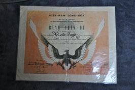 ARVN Paratrooper certificate.