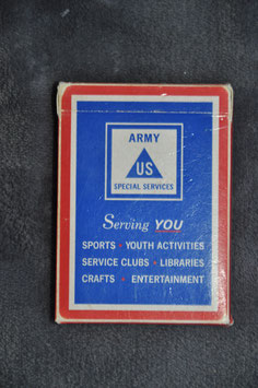 US Army regular playing cards.