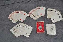 Tiger playing cards.