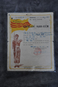 ARVN good conduct certificate. Dated '60.