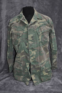 Coat, man's camouflage cotton 2nd version Poplin ERDL. Dated '68. USMC.