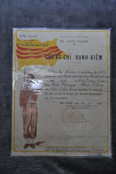 ARVN good conduct certificate. Dated '55 (Indochine) and '69.