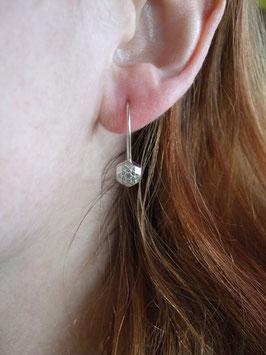 Schneestern Ohrhänger Hexagon klein