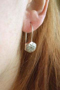 Schneestern Ohrhänger Hexagon groß