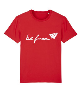 "be free Logo – Unisex Shirt ""red"""