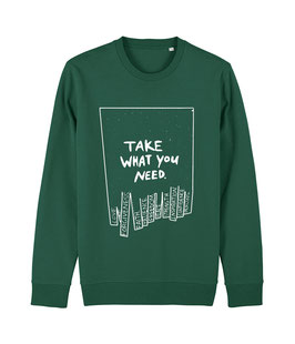 """TWYN – Unisex Sweatshirt """"bootle green"""""""