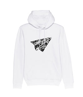 "be free ""Flyer"" – Unisex Hoodie ""white"""