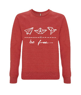 "be free – Unisex Sweatshirt ""melange red"""