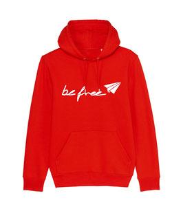 "be free Logo - Unisex Hoodie ""red"""