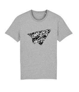 "be free ""Flyer"" – Unisex Shirt ""melange grey"""