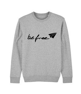"""be free Logo – Unisex Sweatshirt """"melange grey"""""""