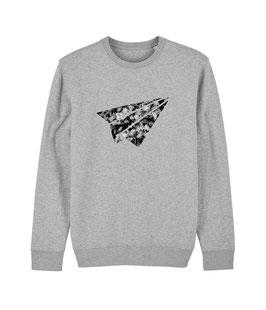 "be free ""Flyer"" – Unisex Sweatshirt ""melange grey"""