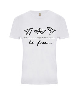 "be free – Unisex Shirt ""dove white"""