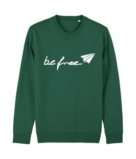 "be free Logo - Unisex Sweatshirt ""bootle green"""