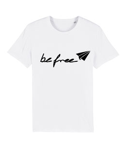 "be free Logo – Unisex Shirt ""white"""