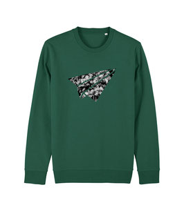 "be free ""Flyer"" - Unisex Sweatshirt ""bootle green"""