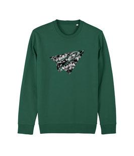 "be free ""Flyer"" - Unisex Sweatshirt ""bootle green"""