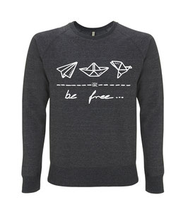 "be free – Unisex Sweatshirt ""melange black"""